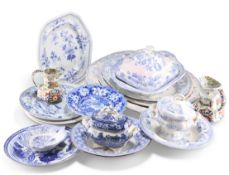 A COLLECTION OF ENGLISH POTTERY, 19TH CENTURY AND LATER