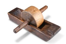 A 19TH CENTURY WOODEN COFFEE GRINDER