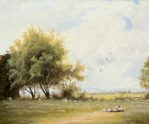 BILL WILDE-LATHAM (BORN 1931), QUIET CORNER OF A WORCESTERSHIRE