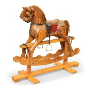 A 1970S/80S HAND-CARVED BESPOKE ROCKING HORSE BY IAN ARMSTRONG, DURHAM