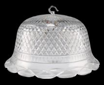 A CUT-GLASS LIGHTSHADE, FIRST HALF OF 20TH CENTURY