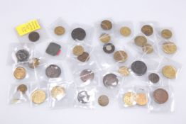 A COLLECTION OF GEORGIAN AND LATER TOKENS
