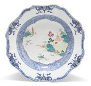 AN 18TH CENTURY CHINESE FAMILLE ROSE BASIN