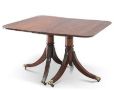 A GEORGE III STYLE MAHOGANY DINING SUITE