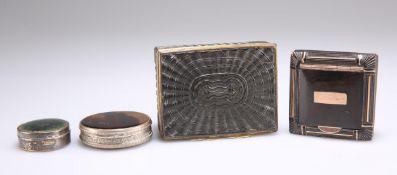 A GEORGE III GILT-METAL MOUNTED PRESSED TORTOISESHELL SNUFF BOX