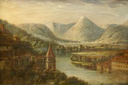 CONTINENTAL SCHOOL (19TH CENTURY), RIVER LANDSCAPE