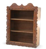 A SET OF FRENCH CHESTNUT WALL-HANGING SHELVES