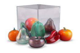 TEN PIECES OF MURANO GLASS FRUIT