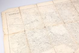 A Kelly's Directory Post Office linen backed folded map of London 1903, 107cm