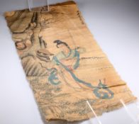 A Japanese scroll painting