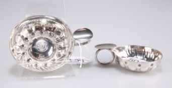 Two silver-plate tastevins