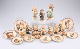 A collection of Hummel Goebel figures and plates
