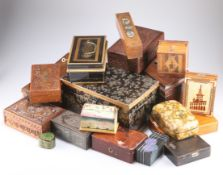 A collection of decorative and other boxes