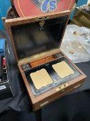 Edwardian leather desk box