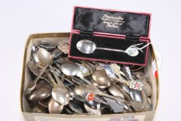 A silver and enamel teaspoon, etc.
