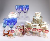 A miscellaneous group including Hammersley tea service, hock glasses, etc.