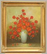 20th Century still Life of poppies