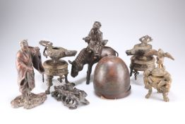 A group of metal wares