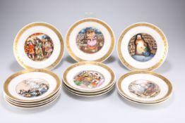 A set of twelve Royal Copenhagen Hans Christian Andersen plates