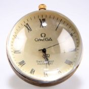 A brass mounted desk clock