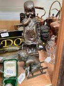 After Juan Clara, two patinated bronze figures