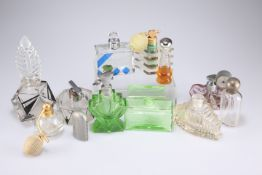 A collection of 20th Century glass scent bottles and atomisers (12)