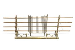 A Victorian pine clothes airer; together with an early 20th Century extending fender and an early