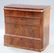 A 19th Century continental mahogany secretaire chest