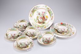 A Copeland Spode Indian Tree pattern tea set for six, with two plates, retailed by Thomas Goode & So