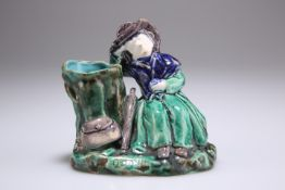 A 19th Century pottery spill vase