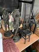 A collection of bronzes and other metal figures