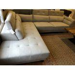 2-pc L-shape Sofa Unit NEW! (Dimensions via photo)