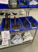 LOT: Assorted drill bits & concrete bits, 4 bins