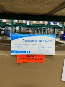 Disposable face mask, 3-ply, 50pcs per box, 50 boxes