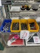 LOT, Assorted sockets, screwdriver bits, keys, etc..., 4 bins