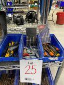 LOT, Assorted precision tools, etc..., 3 bins