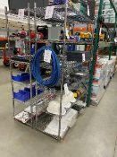 """Seville NSF metal 6 shelf rack, w.48""""x h.72"""", 2pcs"""