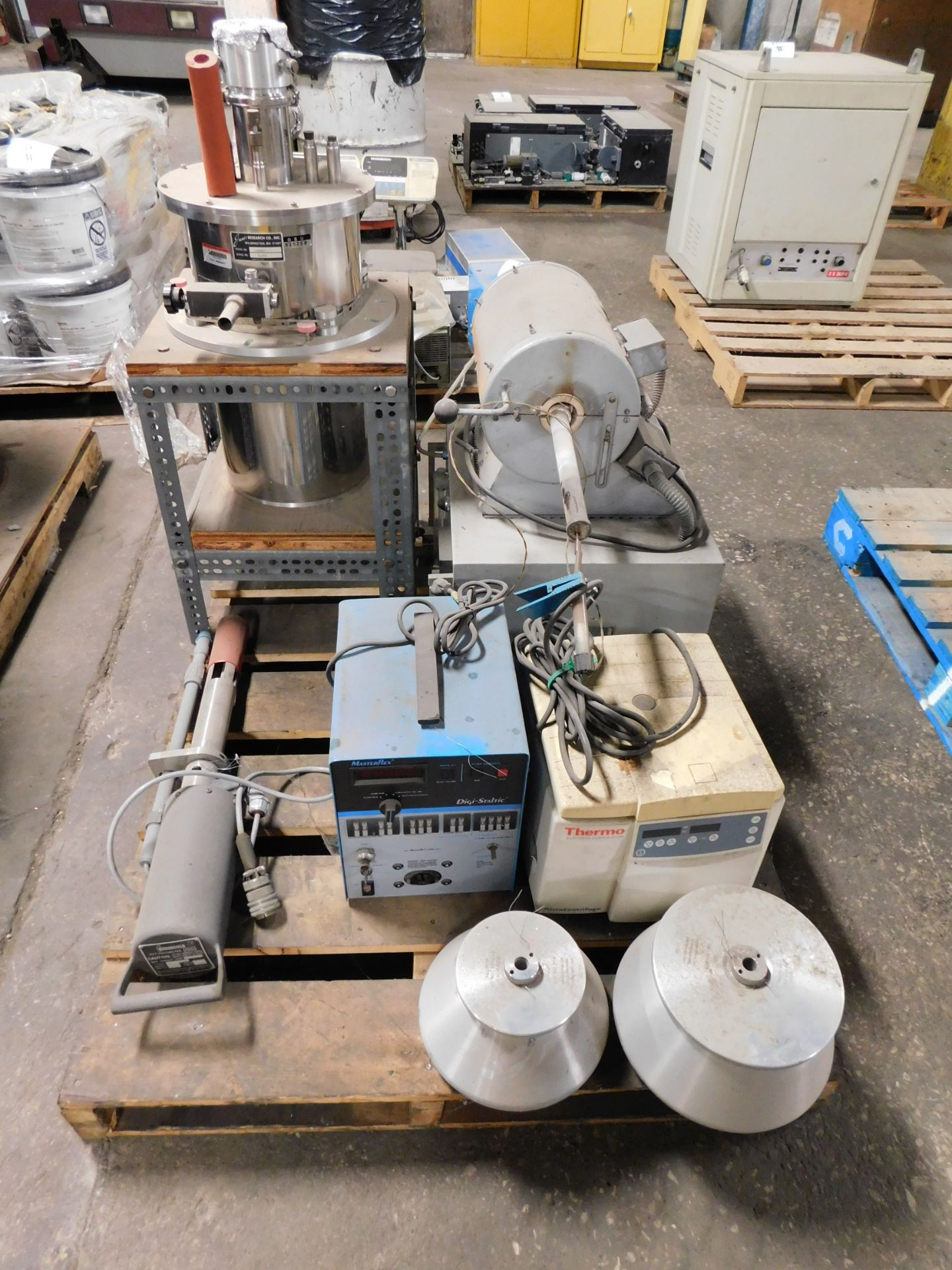 Miscellaneous Lab Equipment-Masterflex Pump, Heraeus Oven, Janis Cryo Tank, Brookfield Probe, Thermo