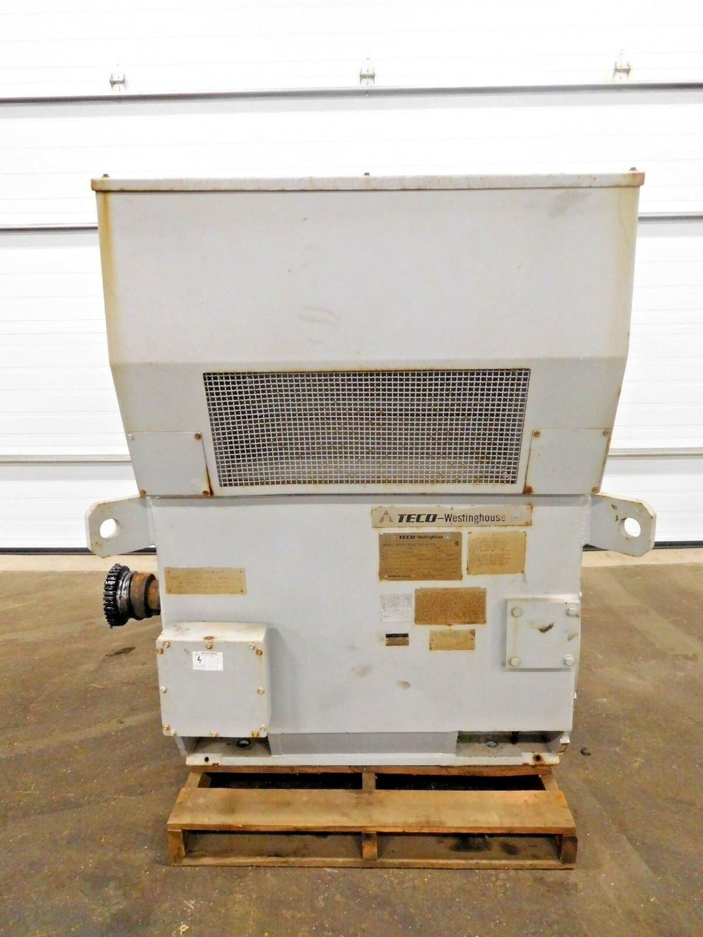Westinghouse TECO 400 HP World Series Motor. 4000 V. 1187 RPM. 5808. WP2. 3 Ph. 60 Hz.