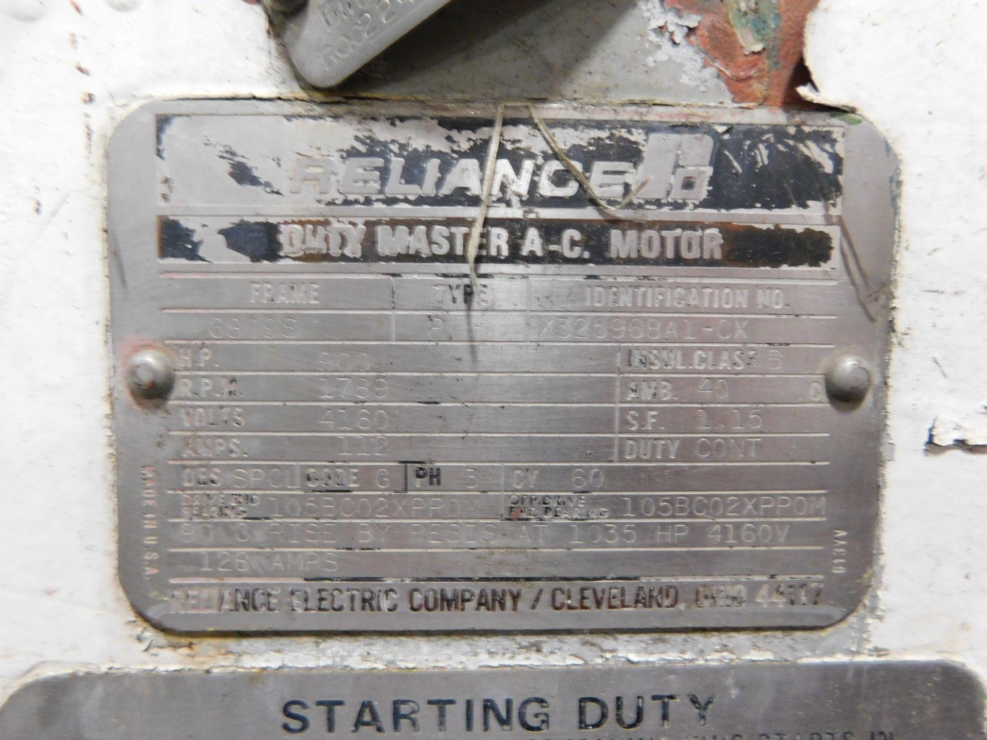 Reliance AC Duty Master Motor. 900 HP. 3 Ph. 60 Hz. 4160 V. 1789 RPM. 6809S. Type P. - Image 7 of 7