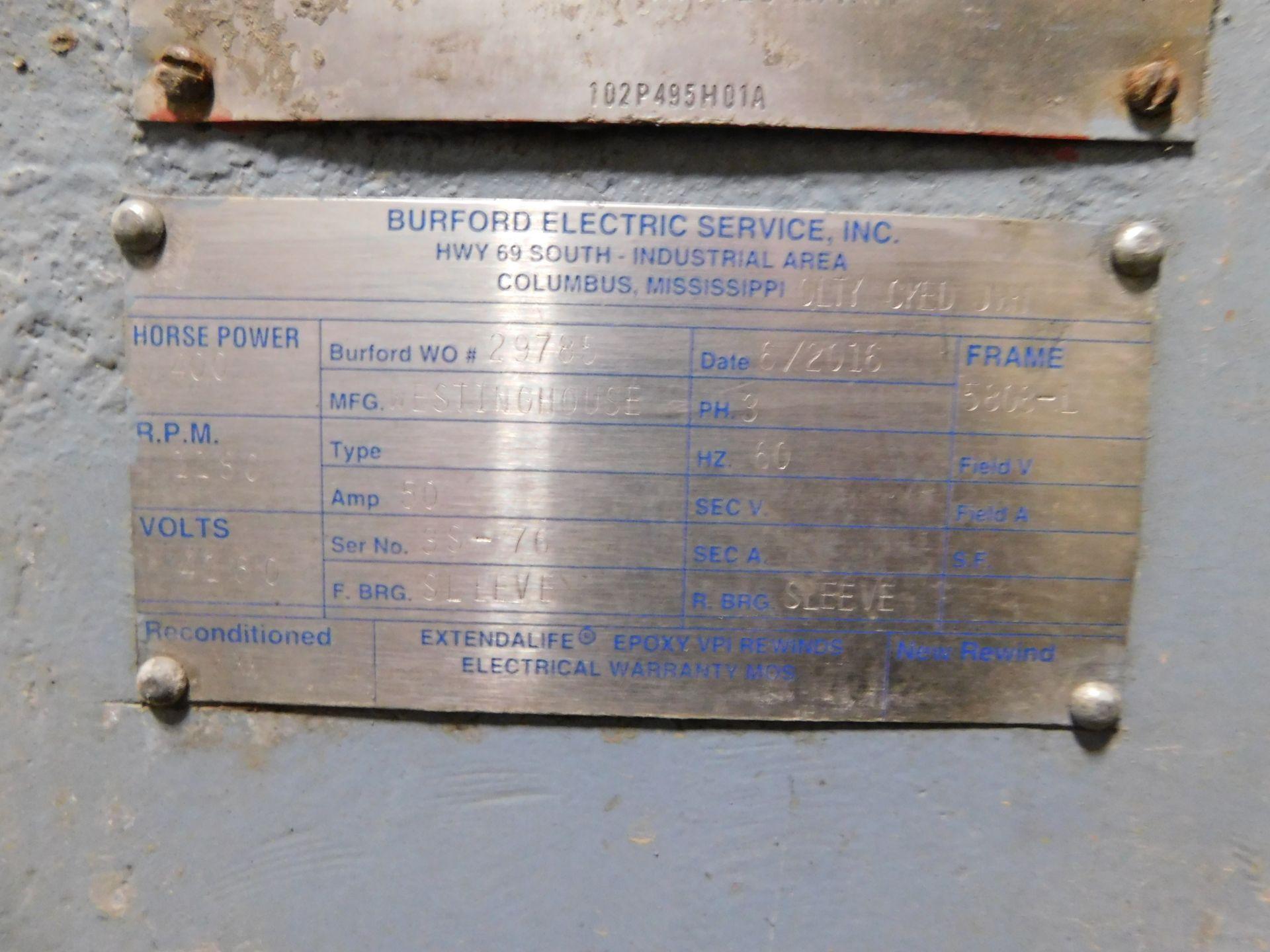 Teco Westinghouse Motor. 400 HP. 3 Ph. 1180 RPM. 4000 V. 60 Hz. 5808L. HSW1. - Image 6 of 7
