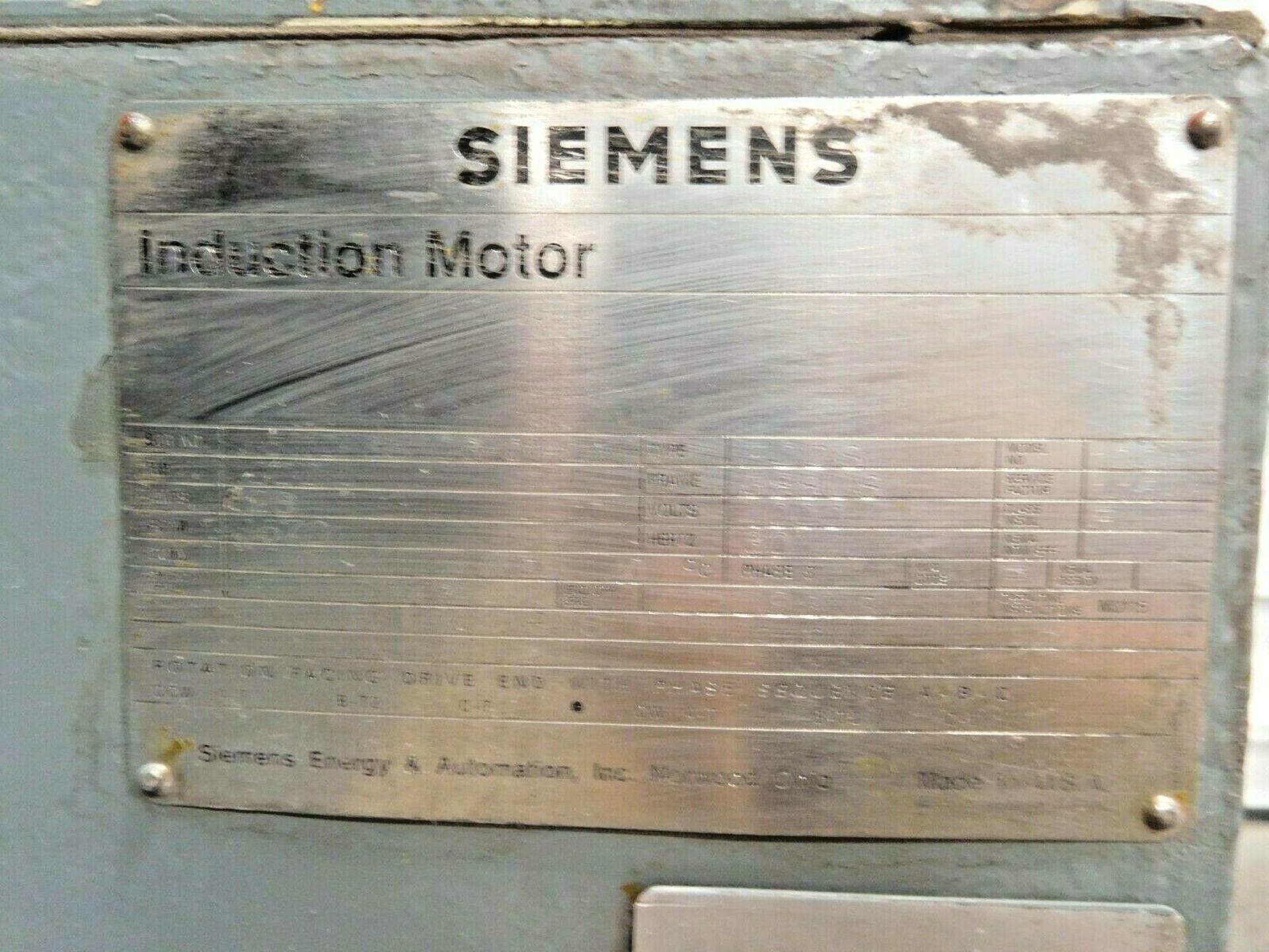 Siemens 1000 HP Induction Motor. 3 Ph. 3570 RPM. 4000 V. 60 Hz. 588US. FODS. - Image 4 of 4