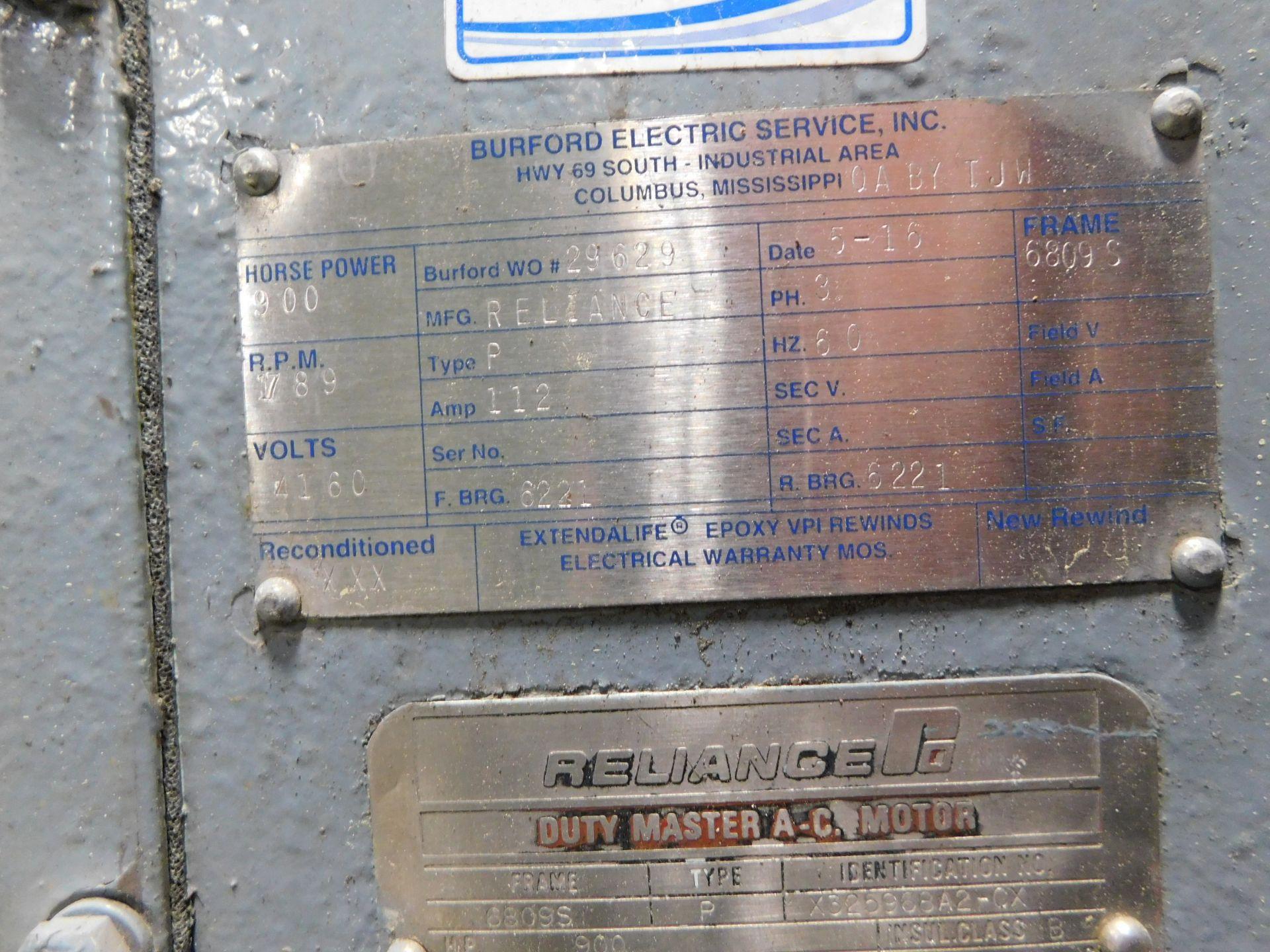 Reliance AC Duty Master Motor. 900 HP. 3 Ph. 60 Hz. 4160 V. 1789 RPM. 6809S. Type P. - Image 4 of 8