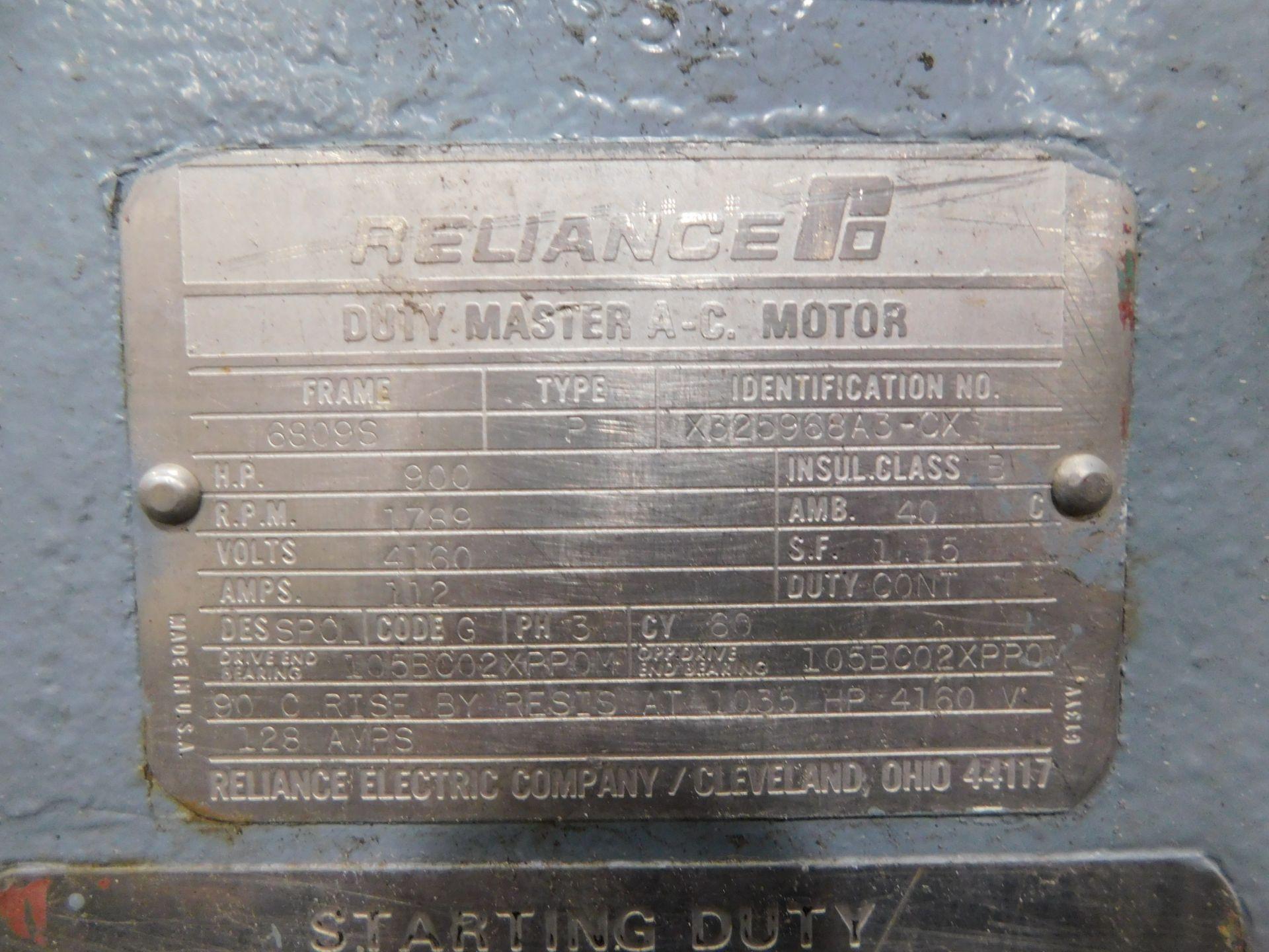 Reliance AC Duty Master Motor. 900 HP. 3 Ph. 60 Hz. 4160 V. 1789 RPM. 6809S. Type P. - Image 8 of 10