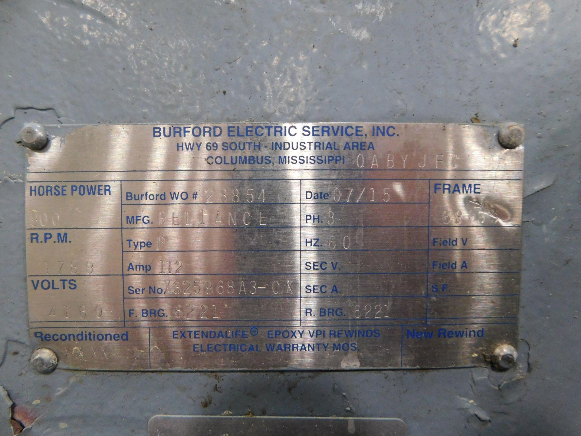 Reliance AC Duty Master Motor. 900 HP. 3 Ph. 60 Hz. 4160 V. 1789 RPM. 6809S. Type P. - Image 7 of 10