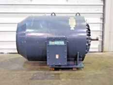 Siemens 350 HP Induction Motor. 886 RPM. 3 Ph. 4000 V. AZZ. 30ES8. 48 A. 60 Hz.