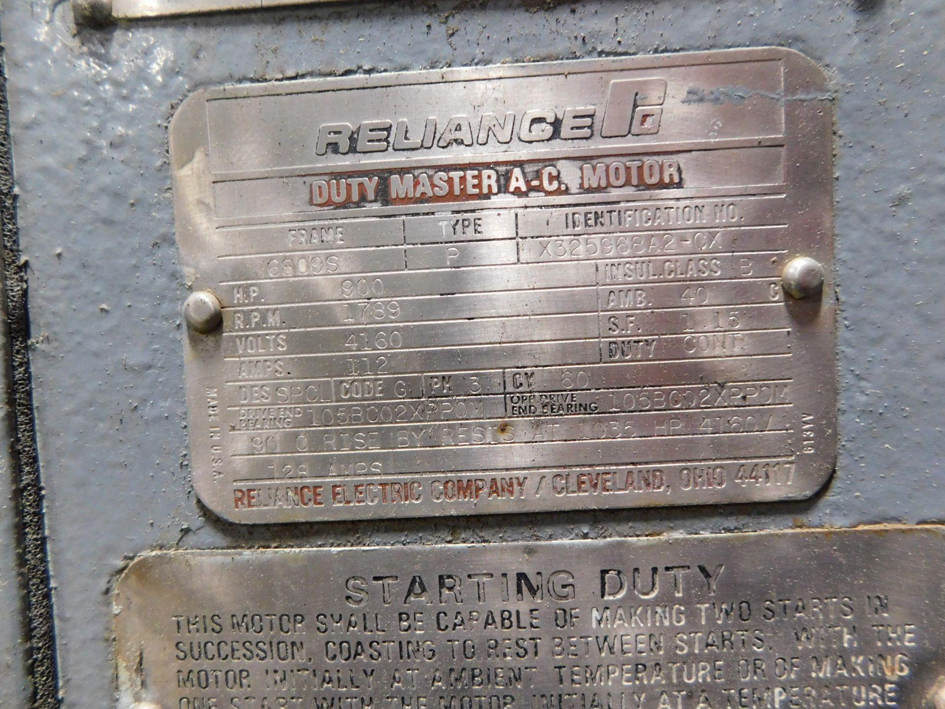Reliance AC Duty Master Motor. 900 HP. 3 Ph. 60 Hz. 4160 V. 1789 RPM. 6809S. Type P. - Image 5 of 8