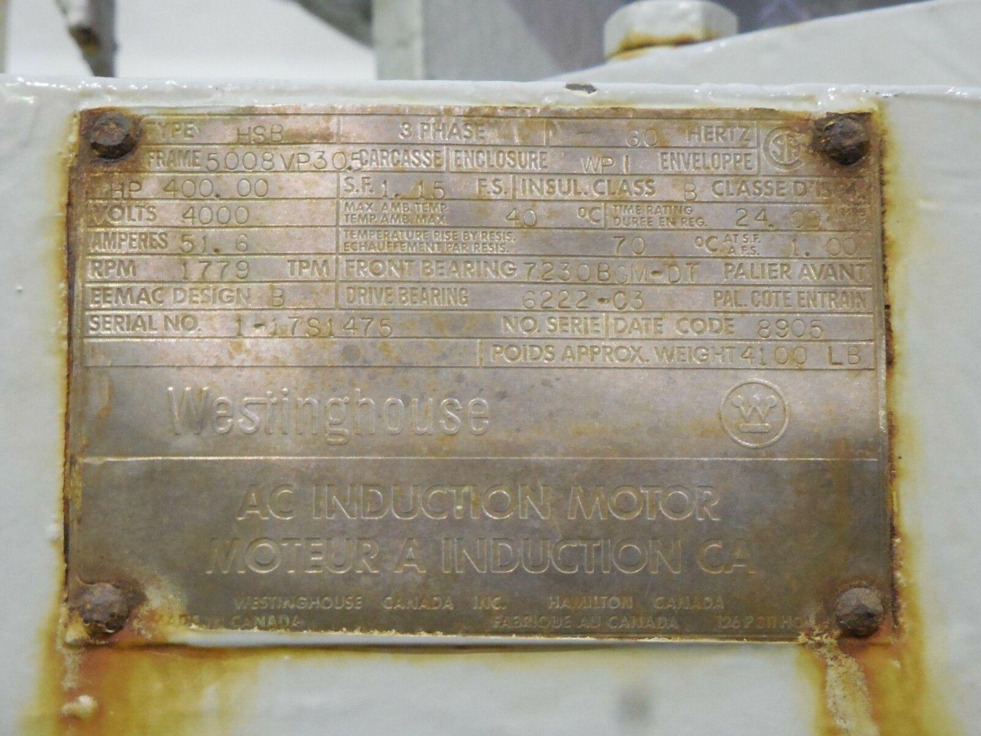 Westinghouse Vertical Motor. 400 HP. 4000 V. 1779 RPM. HSB. 3 Ph. 60 Hz. 5008VP305. - Image 4 of 4