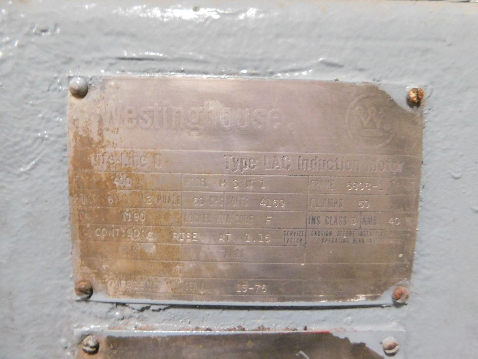 Teco Westinghouse Motor. 400 HP. 3 Ph. 1180 RPM. 4000 V. 60 Hz. 5808L. HSW1. - Image 6 of 6