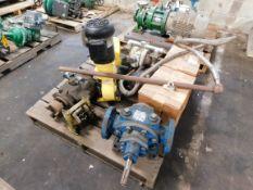 Pallet of Miscellaneous Pumps - Rexroth Hydraulic Pump, Diaphragm Pumps, Ingersoll Rand, etc.